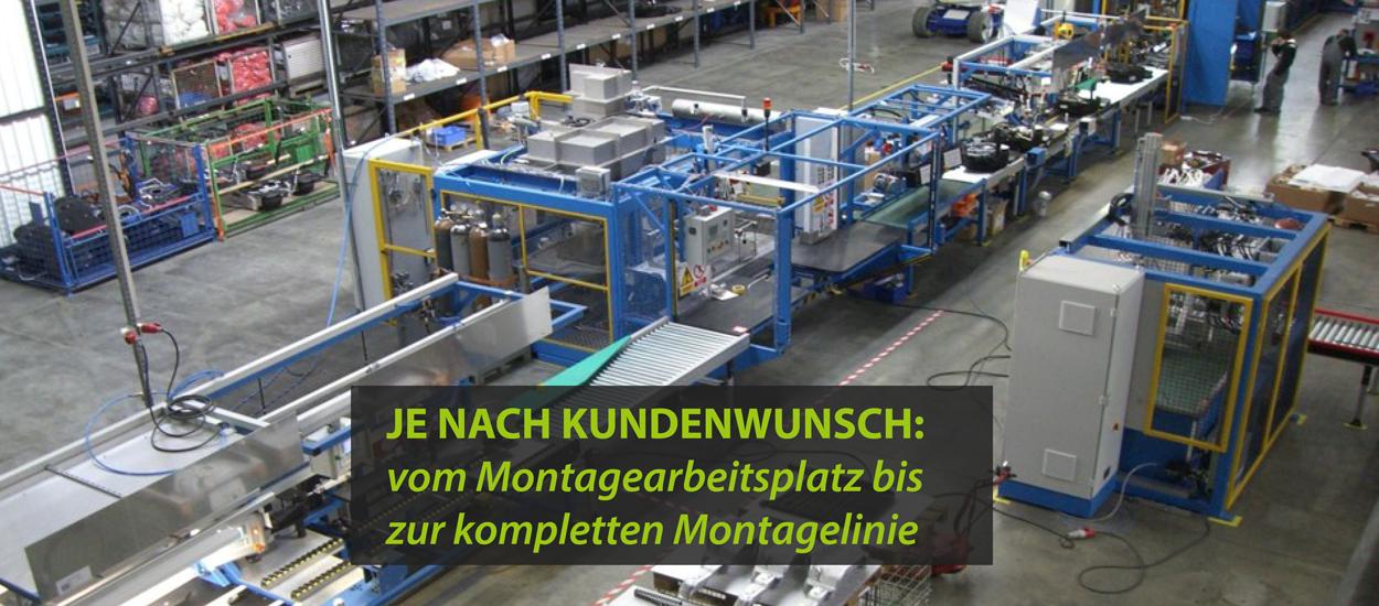 vom Montagearbeitsplatz zur kompletten Montagelinie